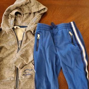 George Zip up Hoodie and Joe Fresh Pants 3T